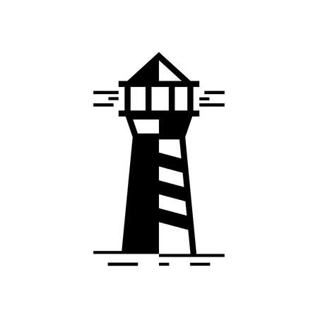 Lighthouse . Icon design. Template elements