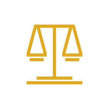 Justice law logo. Icon design. Template elements