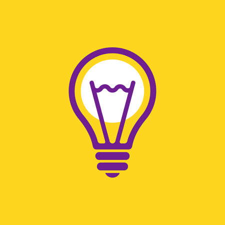 Light bulb logo. Icon design. Template elements