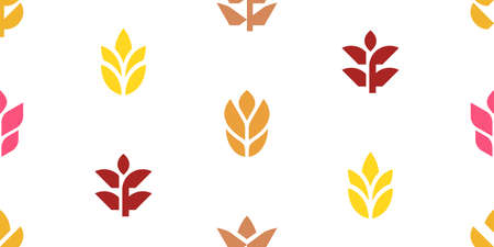 Seamless pattern with Wheat. Icon design. Template elements