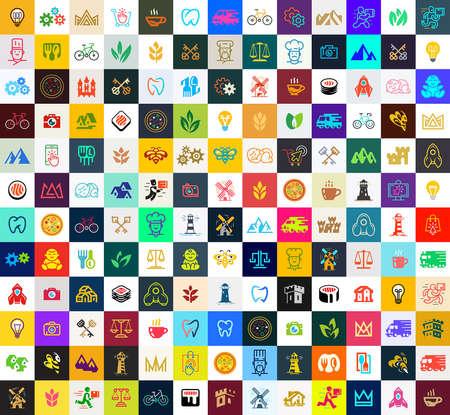 Logos collection. Abstract logos set. Icon design. Template elements Logo