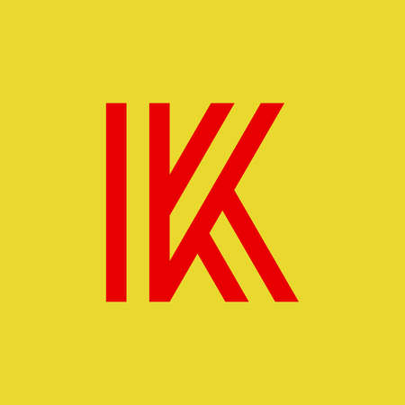 Letter K logo. Icon design. Template elements - vector sign