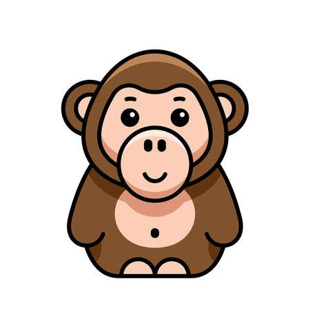 Monkey icon. Icon design. Template elements