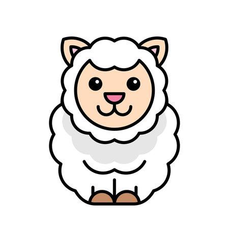 Sheep icon. Icon design. Template elements