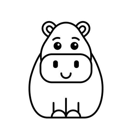 Hippo icon. Icon design. Template elements 矢量图像