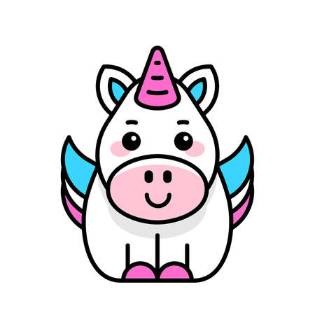 Unicorn icon. Icon design. Template elements 矢量图像