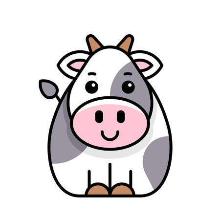 Cow icon. Icon design. Template elements 矢量图像