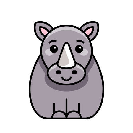 Rhinoceros icon. Icon design. Template elements