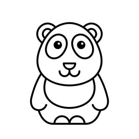 Panda icon. Icon design. Template elements