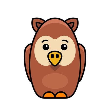 Owl icon. Icon design. Template elements