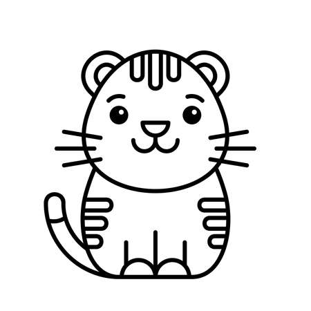 Tiger icon. Icon design. Template elements
