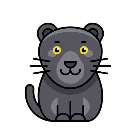 Panther icon. Icon design. Template elements