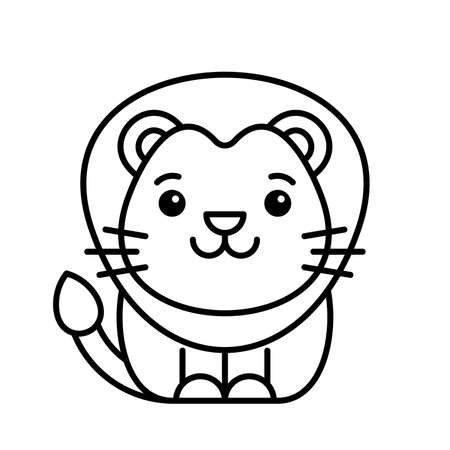 Lion icon. Icon design. Template elements