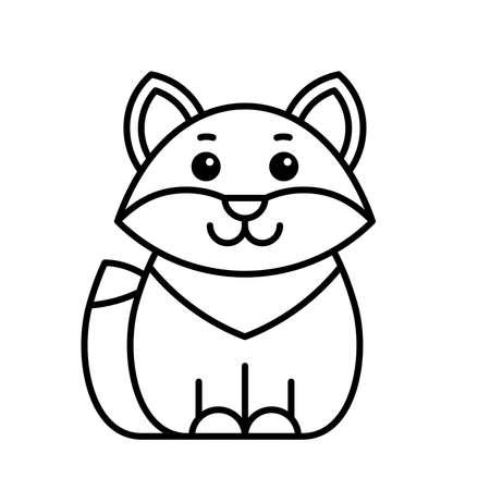 Fox icon. Icon design. Template elements
