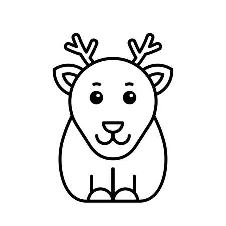 Deer icon. Icon design. Template elements