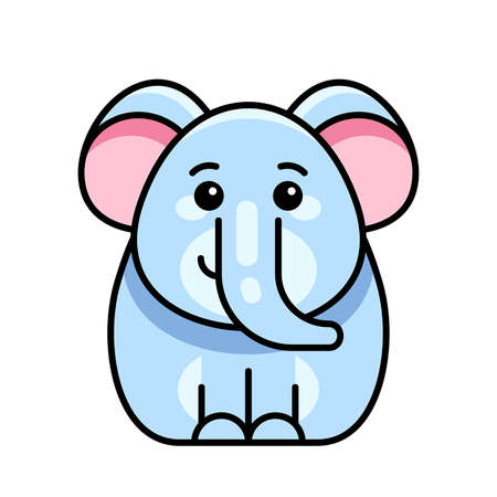 Elephant icon. Icon design. Template elements