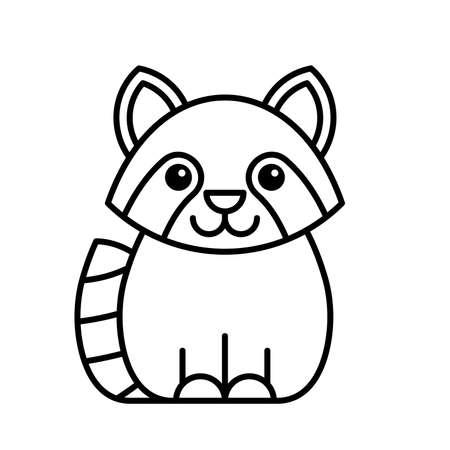 Raccoon icon. Icon design. Template elements