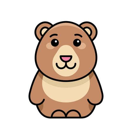 Bear icon. Icon design. Template elements