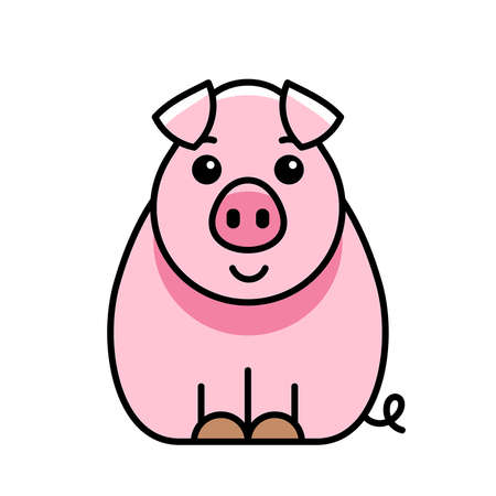Pig icon. Icon design. Template elements