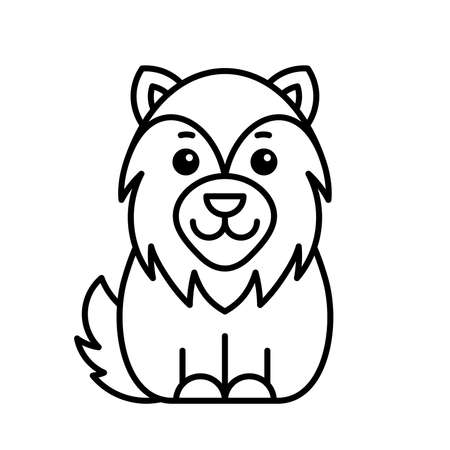 Wolf icon. Icon design. Template elements