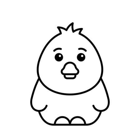 Duck icon. Icon design. Template elements