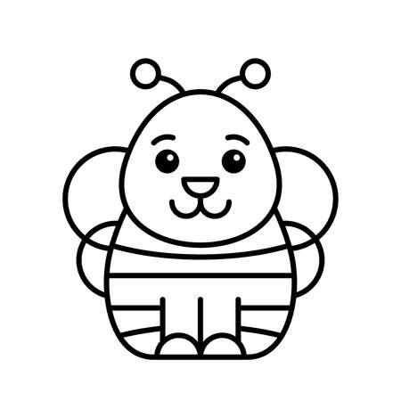Bee icon. Icon design. Template elements