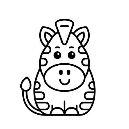 Zebra icon. Icon design. Template elements 矢量图像