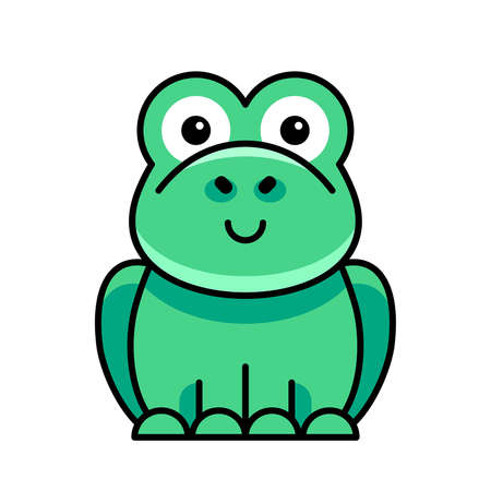 Toad icon. Icon design. Template elements