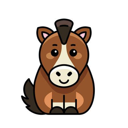 Horse icon. Icon design. Template elements