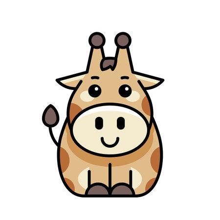 Giraffe icon. Icon design. Template elements