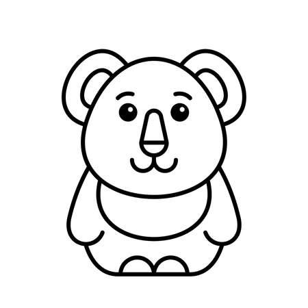 Koala icon. Icon design. Template elements