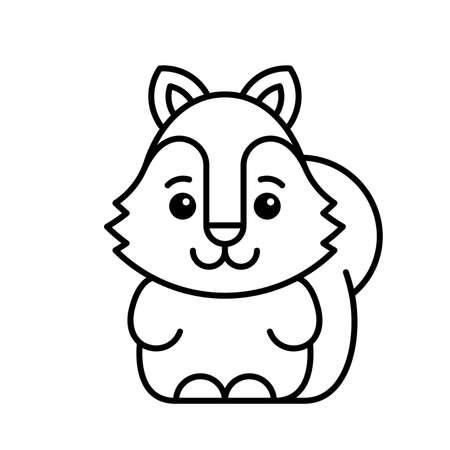 Squirrel icon. Icon design. Template elements