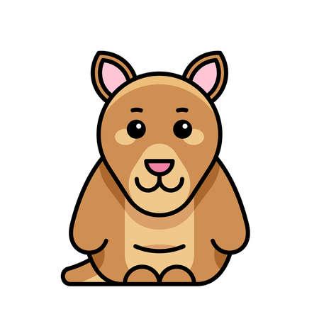 Kangaroo icon. Icon design. Template elements