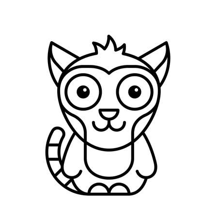 Lemur icon. Icon design. Template elements 矢量图像