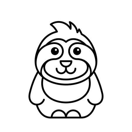 Sloth icon. Icon design. Template elements
