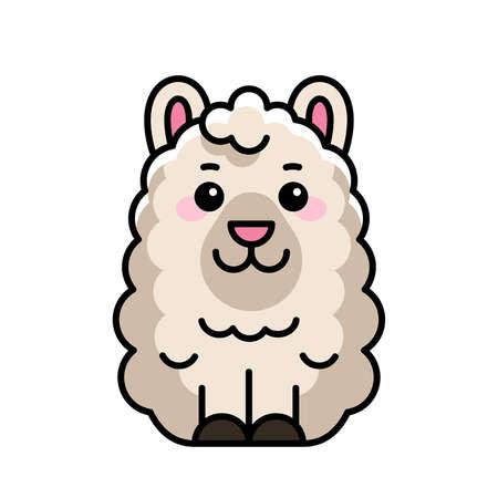 Lama icon. Icon design. Template elements 矢量图像