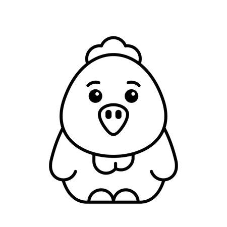 Chick icon. Icon design. Template elements