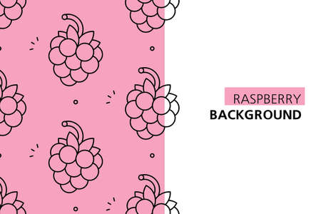 Raspberries background. Icon design. Template elements. isolated on white background