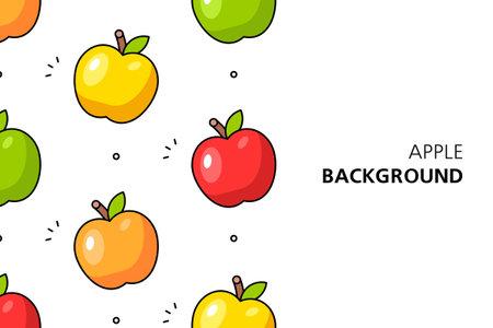 Apple background. Icon design. Template elements. isolated on white background Illusztráció