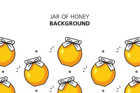Jar of honey background. Icon design. Template elements. isolated on white background Illusztráció