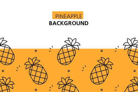 Pineapple background. Icon design. Template elements. isolated on white background Illusztráció