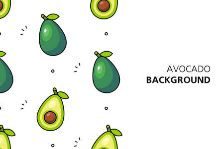 Avocado background. Icon design. Template elements. isolated on white background Illusztráció