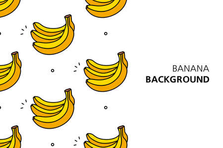 Banana background. Icon design. Template elements. isolated on white background