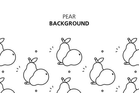 Pear background. Icon design. Template elements. isolated on white background Illusztráció