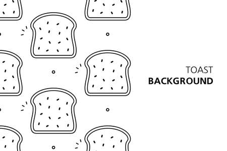 Toast background. Icon design. Template elements. isolated on white background