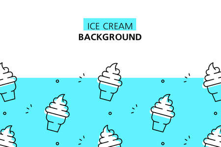 Ice cream background. Icon design. Template elements. isolated on white background