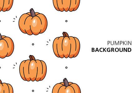Pumpkin background. Icon design. Template elements. isolated on white background Illusztráció