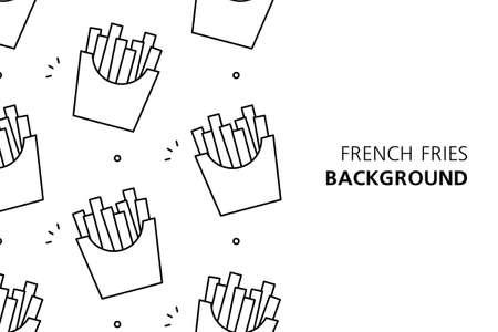 French fries background. Icon design. Template elements. isolated on white background Illusztráció