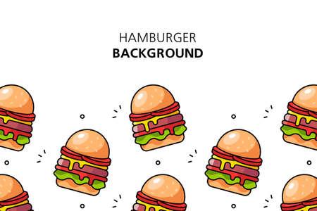 Hamburger background. Icon design. Template elements. isolated on white background