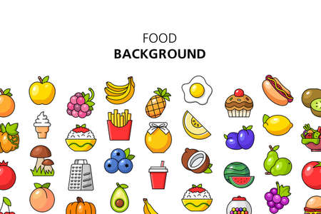 Food background. Icon design. Template elements. isolated on white background